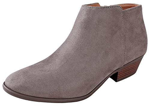 Stacked Block Low Western Chunky Ankle Soda Charcoal Heel Imsu Bootie Women's w 80nqp