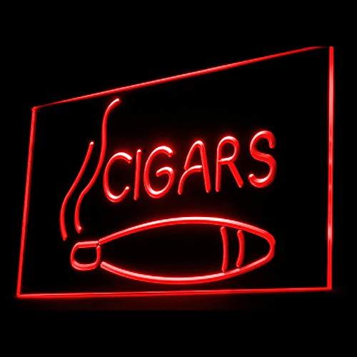 200022 Cigars Cigar Enthusiasts Hookah Cuban Display LED Light Sign
