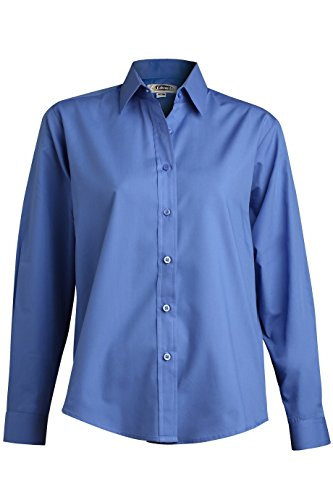 (Ladies' Long Sleeve Broadcloth Shirt 5363 M French Blue by Edwards for)