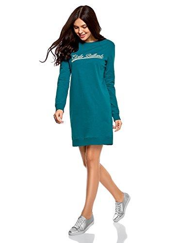 Turquoise Style Robe Ultra Femme Sportif Imprim oodji 6c91p Yq6Fw