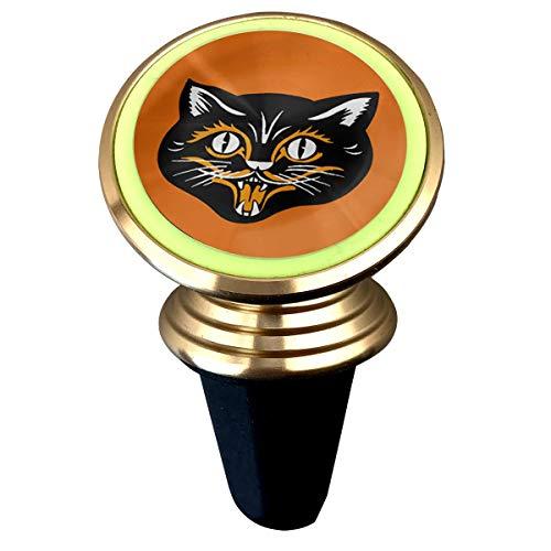 Halloween Black Cat Face Fangs Universal Magnetic Phone Car Mount Holder Metal Luminous -