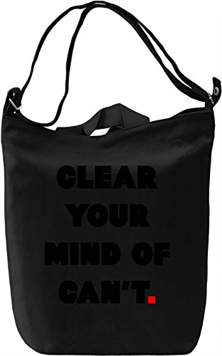 Clear your Mind Borsa Giornaliera Canvas Canvas Day Bag| 100% Premium Cotton Canvas| DTG Printing|
