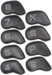 GOTAYA Golf Iron Head Covers 9pcs Set   Universal Fit Suitable for Callaway Mizuno Titleist Ping XXIO Taylorma