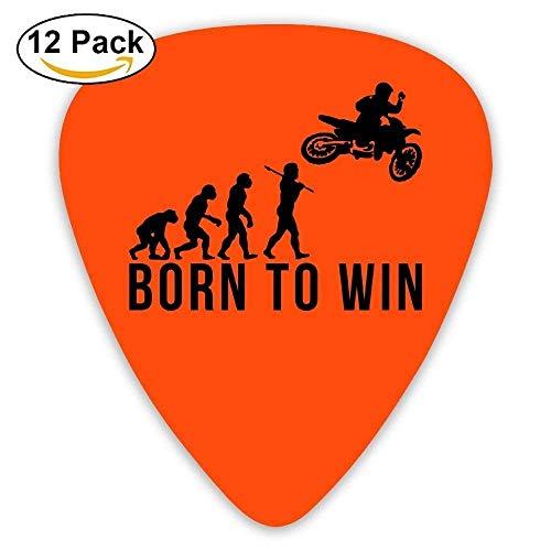 HOOAL Custom Guitar Picks, Jewelry Gift For Guitar Lover Acoustic Guitar -Motocross Evolution Born To Win,12 -