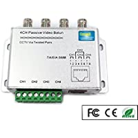 OdiySurveil(TM) UTP 4 Channel Passive Video Balun Transceiver for CCTV System