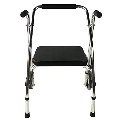 Mobiclinic, Modelo Compostela, Andador para adultos, ancianos, mayores o minusválidos, de acero, ligero, plegable, con asiento y 2 ruedas, Color ...