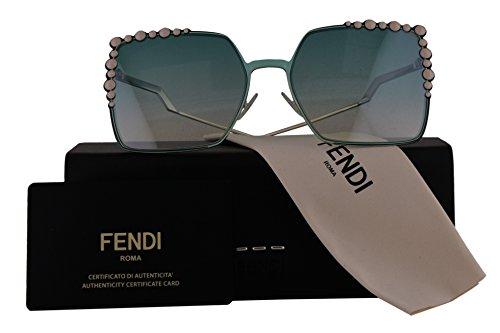 Fendi Authentic Sunglasses FF0259/S Green w/Blue Gradient Lens 1EDEZ FF 0259/S F0259/S FF0259S F0259S (60mm)