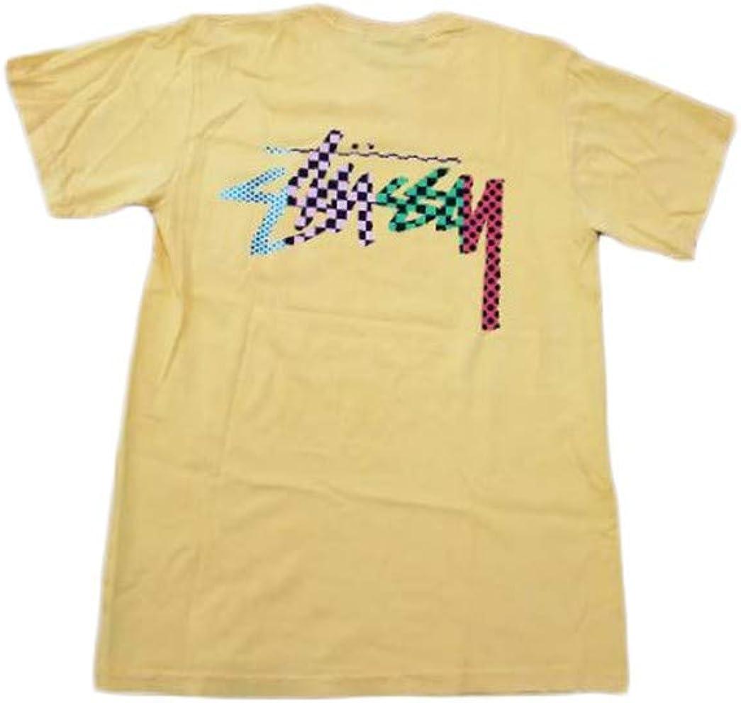 Stussy Camiseta de Hombre Tejido Amarillo 1944038-AMARILLO: Amazon.es: Ropa y accesorios