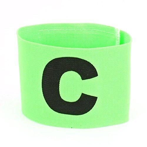 Lettre C Imprimé Football Game Crochet de fermeture de boucle élastique Armband vert