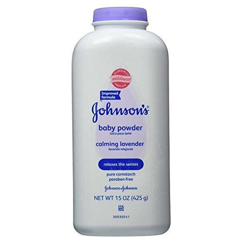 JOHNSON'S Baby Powder Calming Lavender 15 oz (7 Pack)