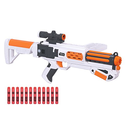 Star Wars Nerf Episode VII First Order Stormtrooper Deluxe Blaster]()