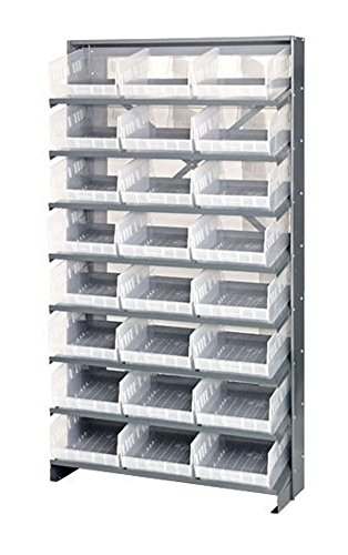 - Quantum QPRS-210CL Single-Sided 24 QSB210CL Clear Bin Storage Pick Rack System 24