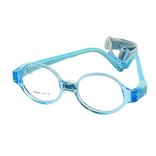 ize 39 with Nose Pad Strap No Screw Flexible Silicone Bendable Optical Frame Children Kids Eyeglasses (blue) ()