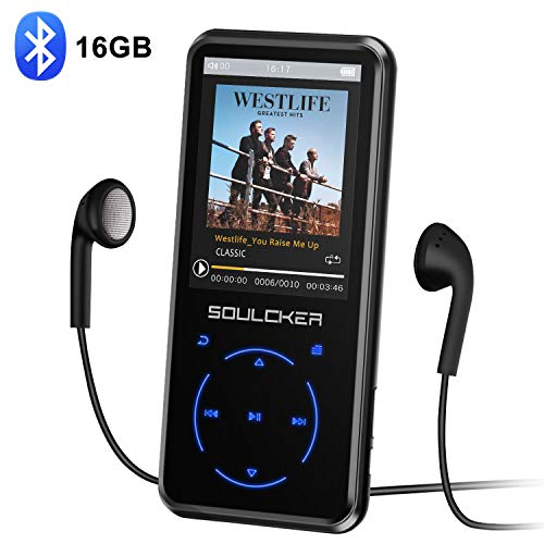 MP3 Player, 16GB MP3 Player with Bluetooth 4.0, Portable HiFi Lossless Sound MP3 Music Player with FM Radio Voice Recorder E-Book 2.4'' Screen, Support up to 128GB (Headphone, Sport Armband (Best Music Players)