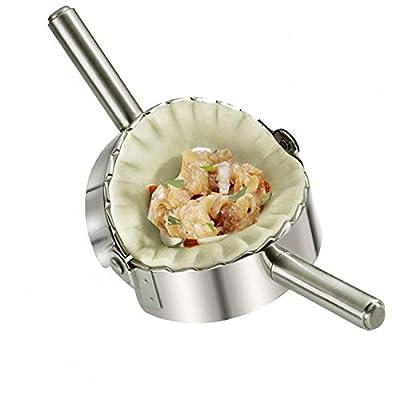 Home Servz Food Grade 304 Stainless Steel Ravioli Maker Pierogi Dumpling Mold - Dough Press Cutter - Pie Crimper Kitchen Wrapper Pastry Tool?5 inch?
