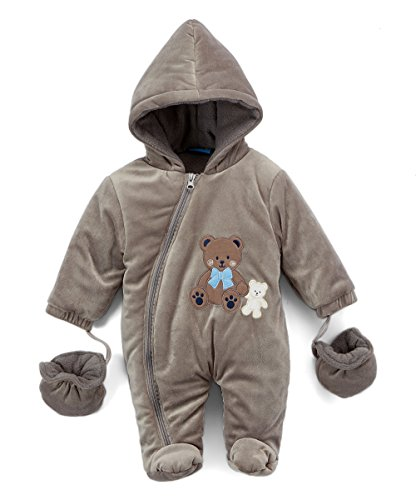 Sweet & Soft Velour Padded Snow Suit Bear (0/3 Months)
