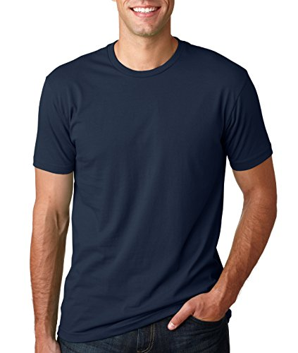 - Next Level Mens Premium Fitted Short-Sleeve Crew T-Shirt - Large - Midnight Navy