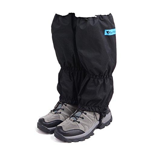 Triwonder Snow Leg Gaiters Waterproof Boot Gaiters Leggings Cover for Hiking Walking Climbing Hunting Cycling (1 Pair) (Black - 2) Bond Ski Pants