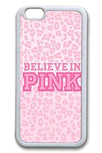 Believe In Pink Slim Soft Cover for iPhone 6 Plus Case ( 5.5 inch ) TPU White Cases by Maris's Diary