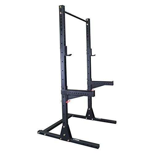 Titan X-3 Adjustable Squat Stand w/ Spotter Arms & Pull Up Bar 3″ x 3″ For Sale