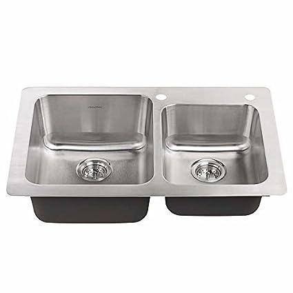 american standard 18 gauge 33 x 22 stainless steel kitchen sink with rh amazon com  american standard stainless steel kitchen sinks reviews