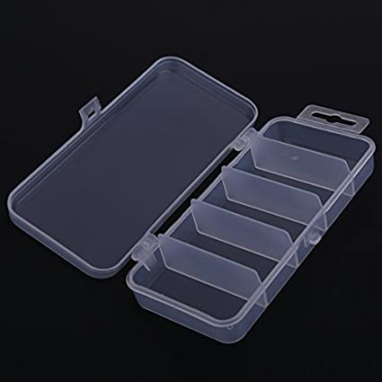 5 compartments by 4 splitter storage organizer container case fishing lure box.A