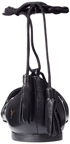 Windsor Smith Strapp, Bailarinas Mujer Nero (Black Leather)