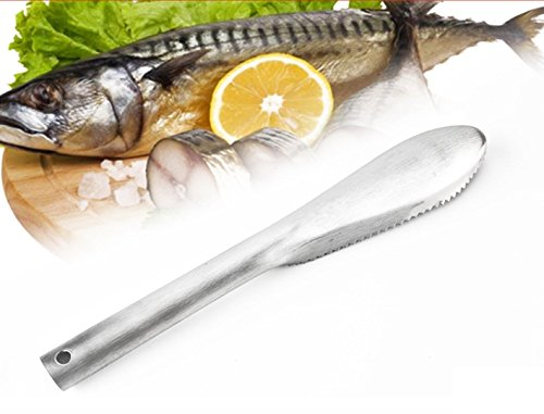 Stainless Steel Scale Scraper Fish Skin Brush Cleaner Peeler Scaler Remover Cleaning Brush Fishing Seafood (Wonder Peeler)