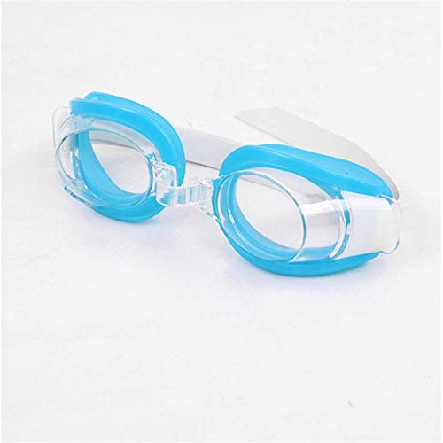 ZQ Children Kids Teenagers Adjustable Swimming Goggles Swim Eyewear Eye Glasses Eyeglasses Sports,Light Blue