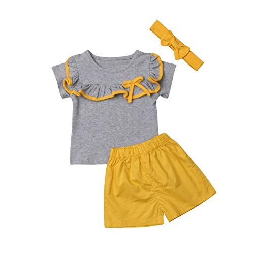 Toddler Baby Girls Boys Twins Clothes Kid Brother and Sister Matching Outfits Short Sleeve Tops + Shorts Pant Outfit Set (Toddler Baby Girls Sisters Outfit, 4-5 Years) (Brother Sister Clothes)