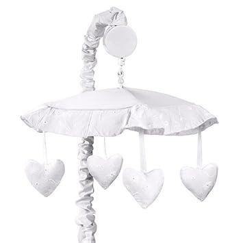 Sweet Jojo Designs Musical Lit Bebe Lit Mobile Blanc A Oeillets