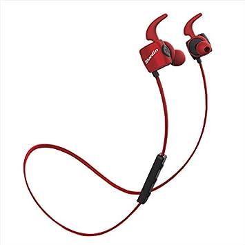 Auriculares inalámbricos Bluetooth Impermeables Deportivos Ligeros de bajo para iPhone Xiaomi Rosso: Amazon.es: Electrónica