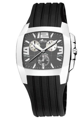 Lotus 15317-2 - Reloj de caballero de cuarzo con correa de plástico negra: Amazon.es: Relojes