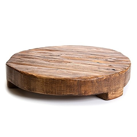 etuHOME 18-Inch Round Reclaimed Wood Trivet by etuHOME®