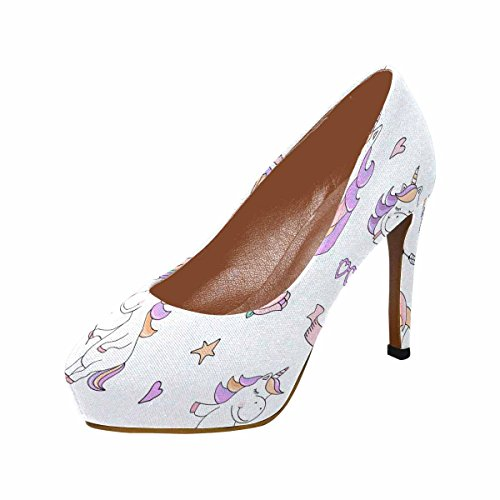 Cute Pumps Things Classic Fashion Womens InterestPrint Unicorn Platform High Characters Heel With Magical YaAqx07fn