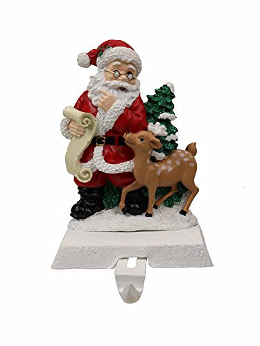 Kurt Adler Resin Santa Claus Stocking Holder [A1682A]