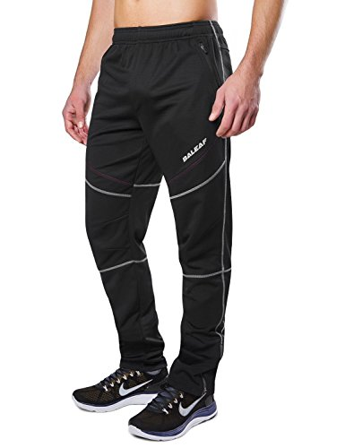 Baleaf Men's Windproof Cycling Fleece Thermal Multi Sports Active Winter Pants Size L (Bicycling Clothes)