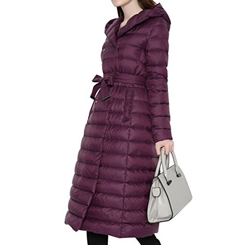 Quilted Hooded Long Down Jacket - 7