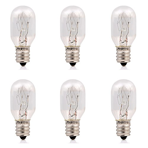 15Watt Himalayan Salt Lamp Bulbs 6Pack-E12 Socket Incandescent Bulbs - 15w Incandescent Lamp