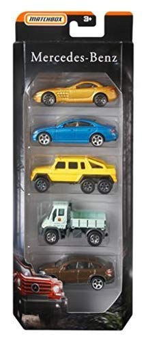 MBX Matchbox Mercedes Benz AMG Limited Edition 5 Pack SLR McLaren, CLS 500, 6x6, Unimog G-Class