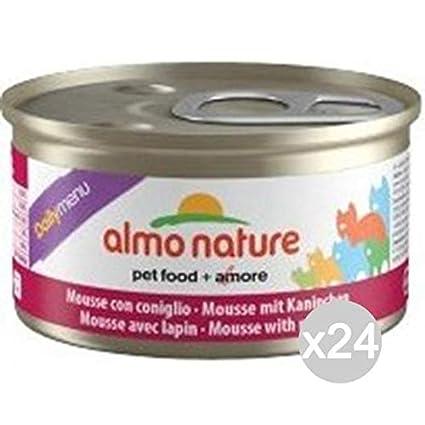 Set 24 ALMO NATURE Cat Puede Gr 157 85 Mousse Comida De Conejo Para Gatos