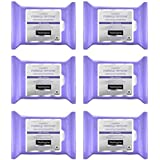 Neutrogena Makeup Remover Night Calming Cleansing Towelettes, Disposable Nighttime Face Wipes to Remove Dirt, Oil & Makeup, 25 ct (Pack of 6)