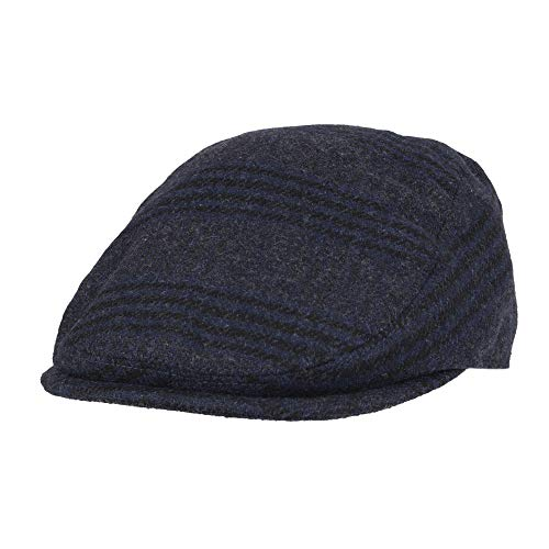 (Levi's Men's Ivy Newsboy Hat, Navy Plaid, Small/Medium)