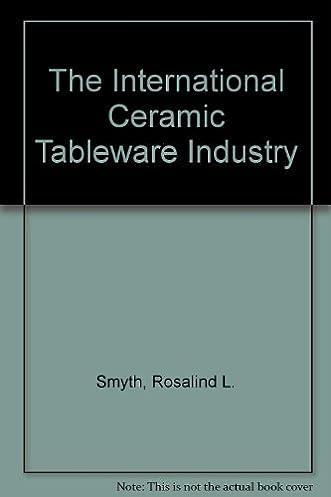 Amazon.com The International Ceramic Tableware Industry (9780709923527) Rosalind L. Smyth R. S. Weightman Robert Leslie Smyth Books  sc 1 st  Amazon.com & Amazon.com: The International Ceramic Tableware Industry ...