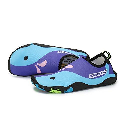 Saguaro Garçon Pieds Plage Barefoot D'eau Natation Aquatique Fille Piscine Water Thick Chaussures Nus Surf Chaussettes Aqua Shoes violet Enfant Sport vzXxrnv
