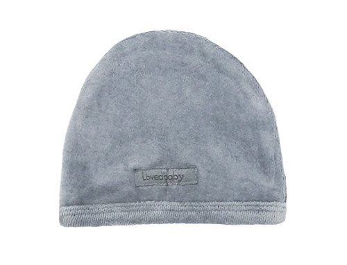 L'ovedbaby Unisex-Baby Organic Infant Cap (0-3 Months, Velour Light Gray) -