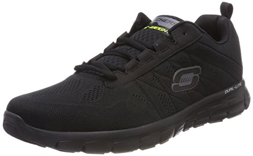 Skechers Rubber Sole Sneakers - Skechers Synergy Power Switch Mens Running Shoes Black 11