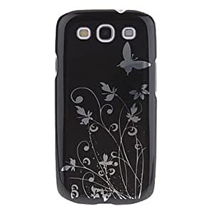 Buy Butterfly Flower Pattern Protective Hard Back Case for Samsung Galaxy S3 I9300(Assorted Colors) , Black