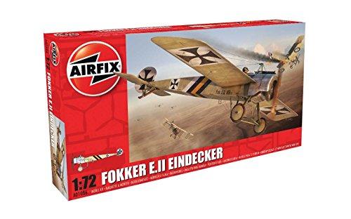 Airfix Fokker EII Eindecker 1:72 Military Aircraft Plastic Model Kit - Fokker Monoplane