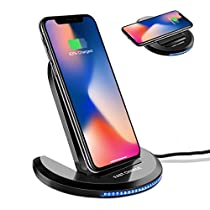 Wireless Charger, ELEGIANT Wireless Charging Stand for Samsung Galaxy Note 8 S8 Plus S8+ S8 S7 S7 Edge Note 5 LG G6 5 4 Series and iPhone 8 iPhone 8 Plus